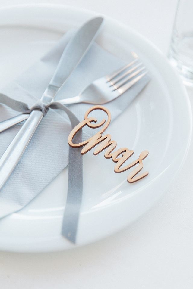 Pretty Name Tag By Lefkas Weddings