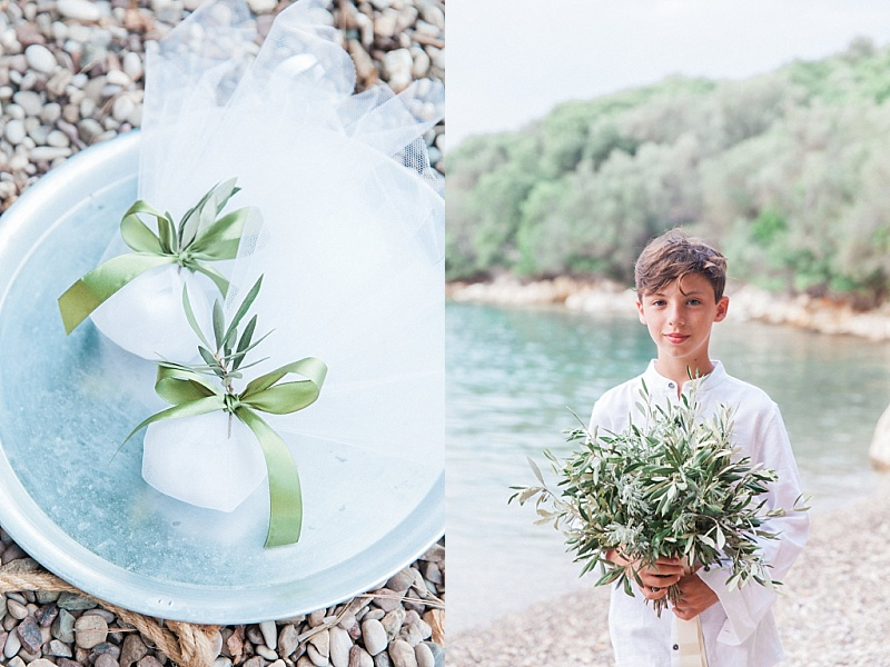 Olive bononieres and olive bouquet