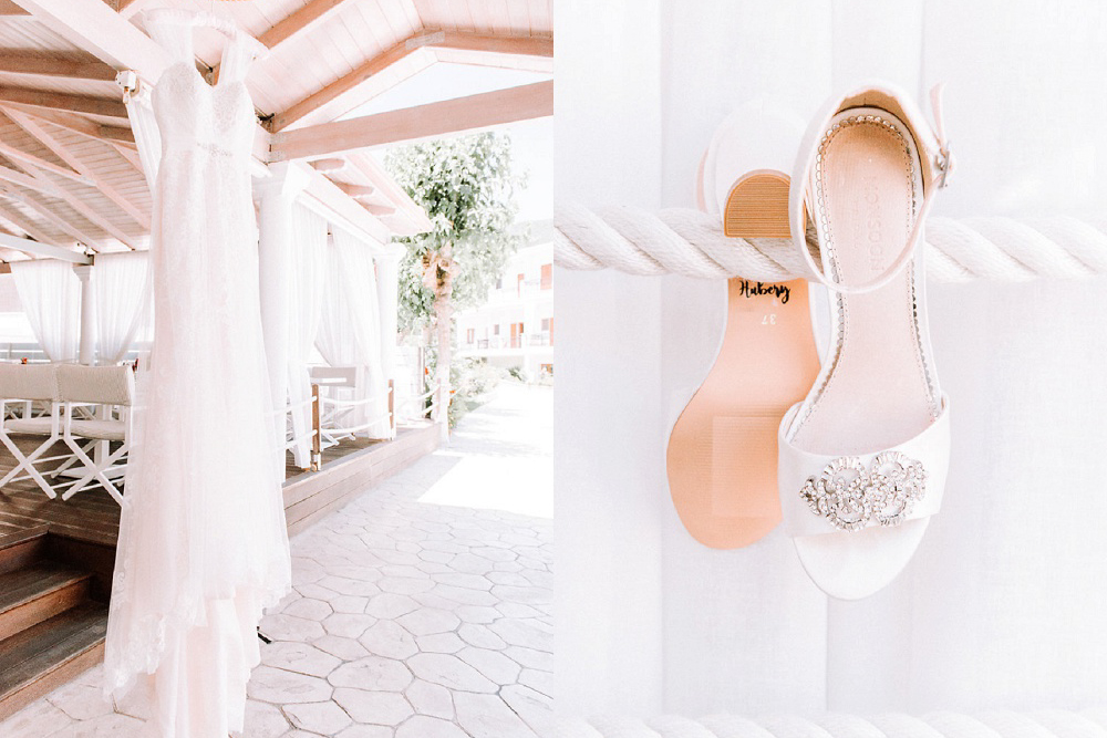 Brides details at Parga wedding by Kalampokas Fotografia and planned by Lefkas Weddings