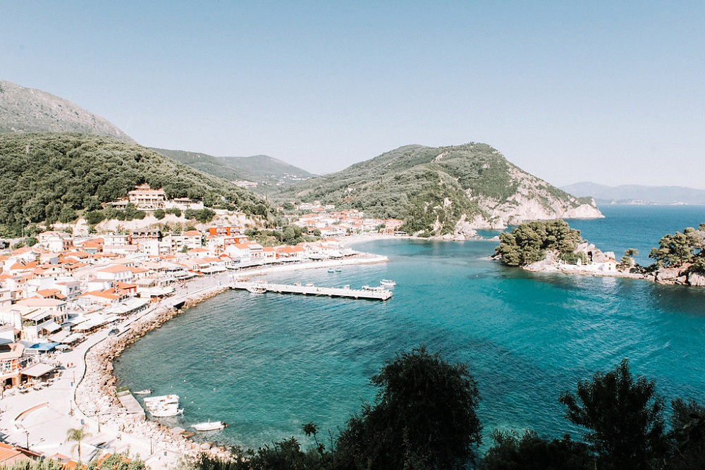 View of Parga Harbour from a Parga Wedding by Lefkas Weddings