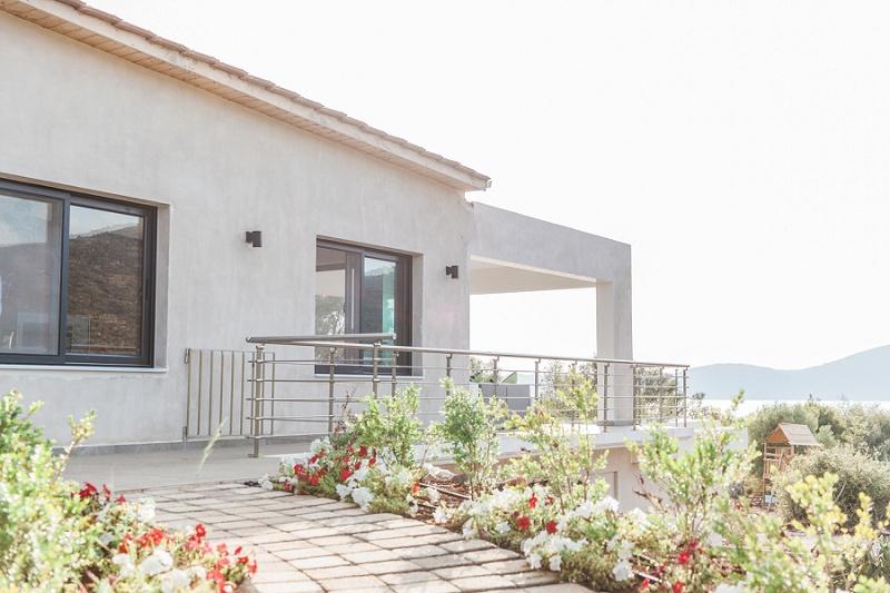 Luxury Villa Where Couple Dressed for Their Secret Beach Elopement in Lefkada