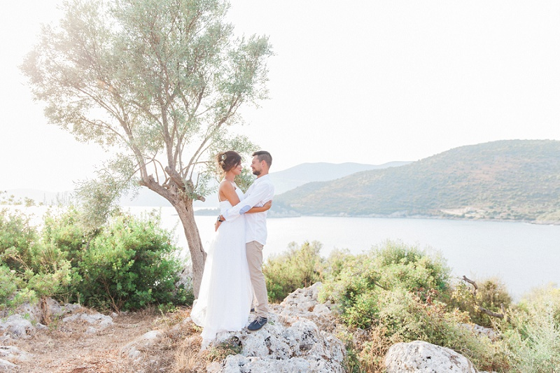 Couple on the Rocks with a view of the Ionian Sea