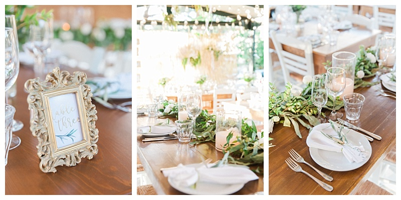 green and gold table decoration
