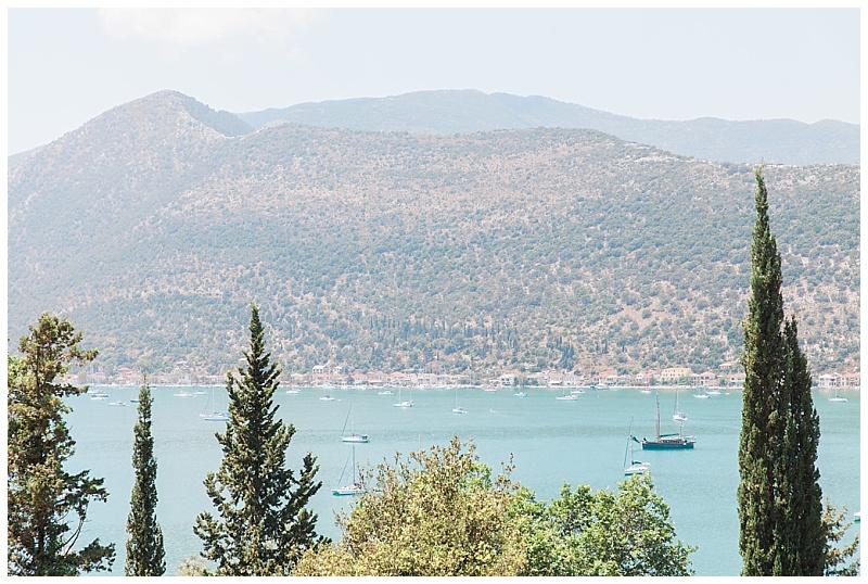 View of Vlyho Bay Lefkada from villa
