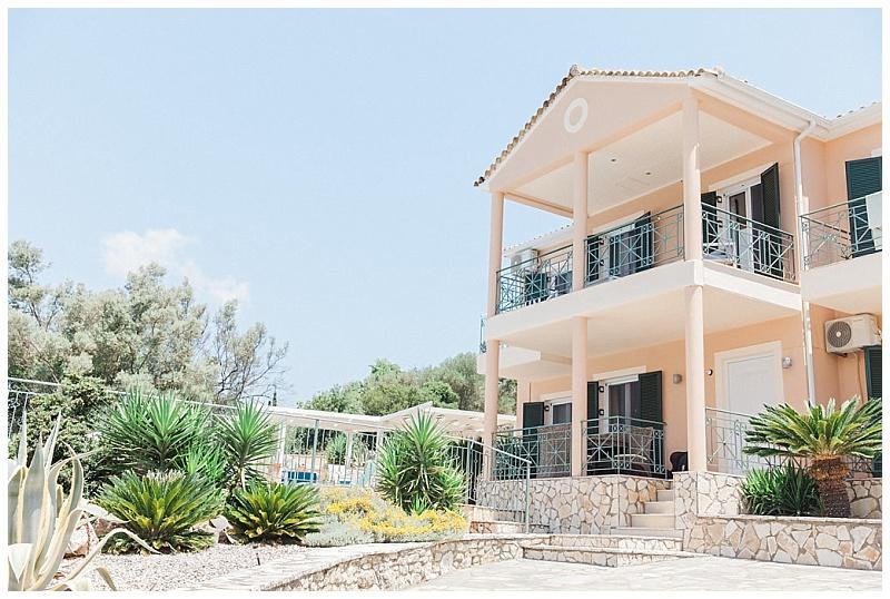 Exterior view of villa vangelis Lefkada