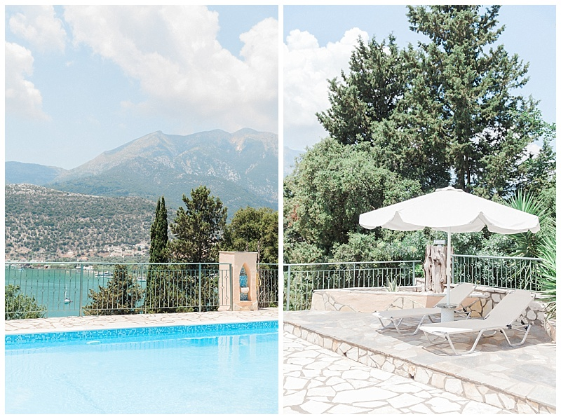 View from pool terrace at villa vangelis lefkada