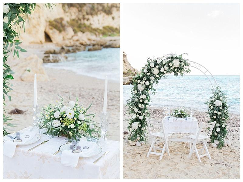 Beach wedding decoration at Agios Nikitas Lefkada