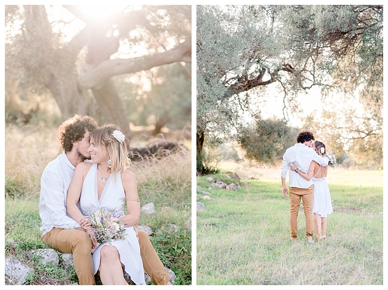 couple in olive grove on greek island