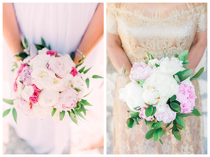Light pink peony bride bouquet