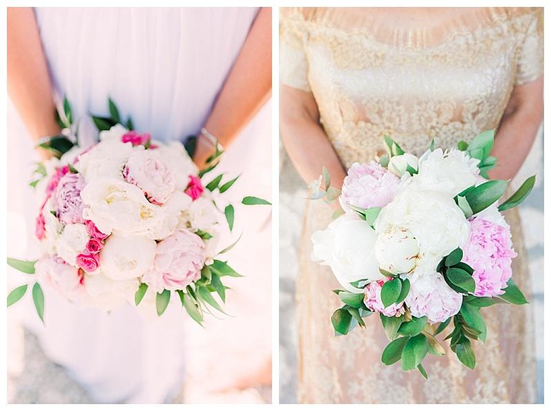 Light pink peony bride bouquet