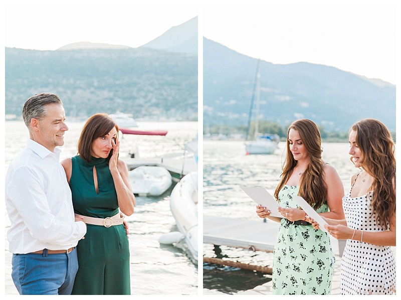 Couple emotional as daughters read to them at vow renewal ceremony