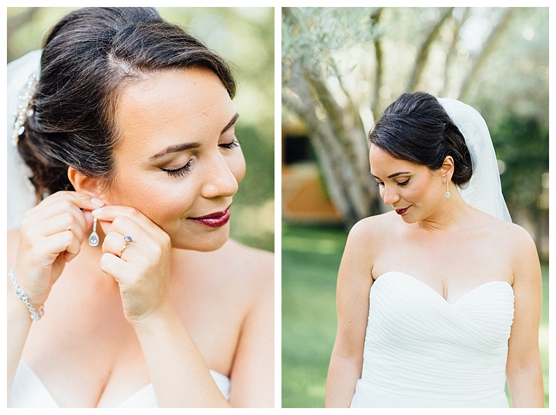 bride portraits in olive grove