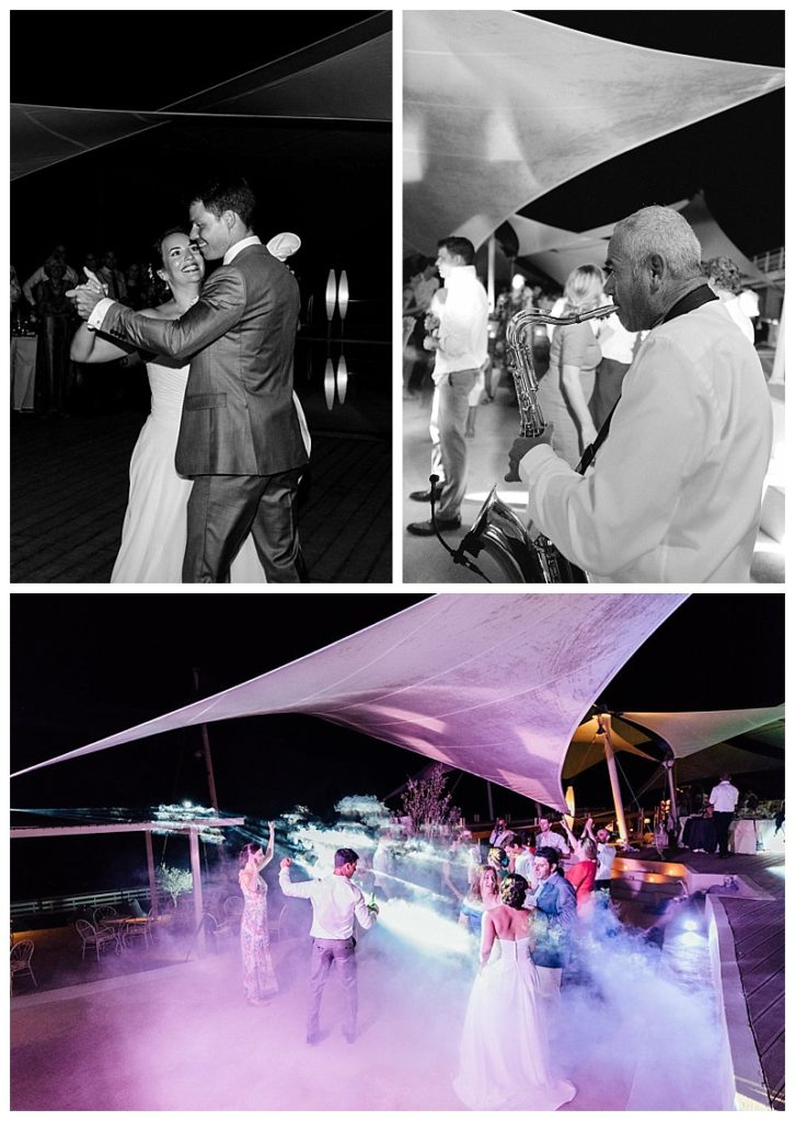 wedding reception dancing at beach wedding lefkada greece