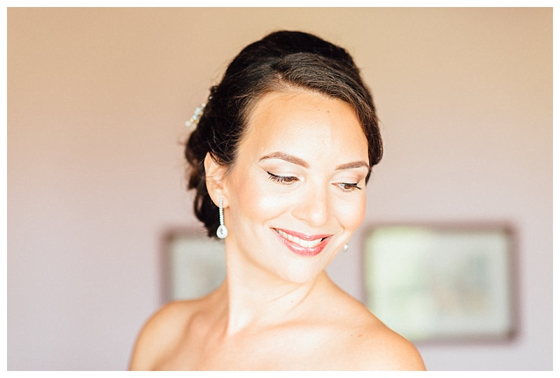 bridal makeup portrait