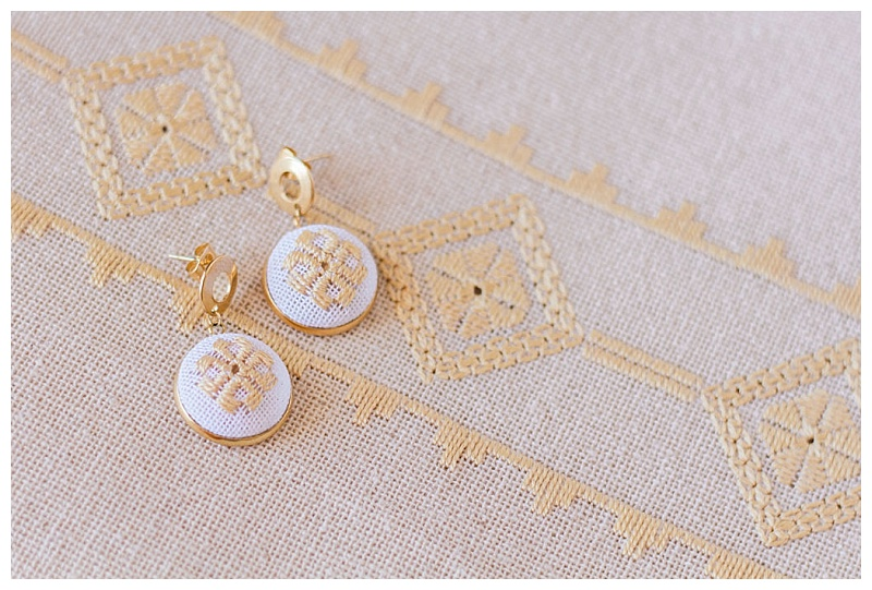 karsaniko lefkada embroidery cream earrings