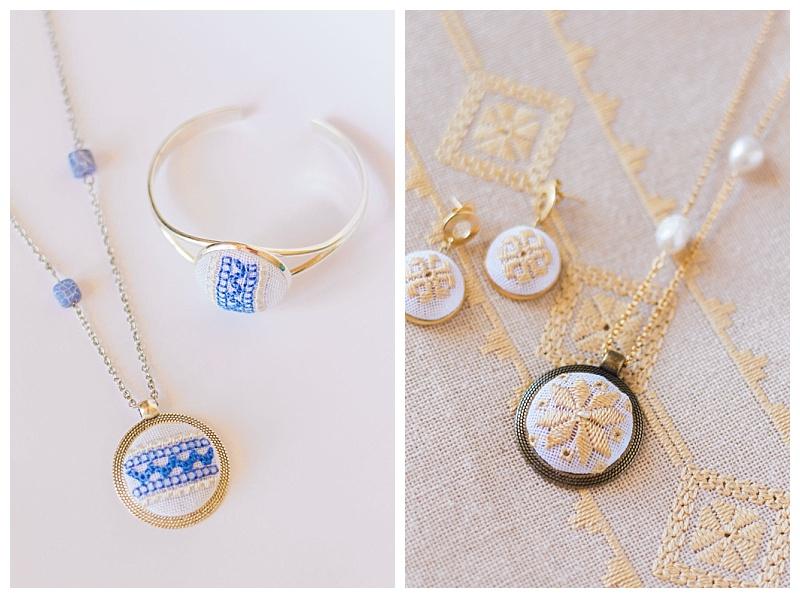 karsaniko lefkada embroidery pendant necklace and bracelet