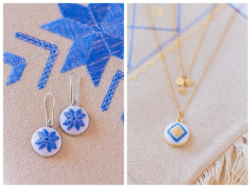 karsaniko lefkada embroidery pendant necklace and earrings