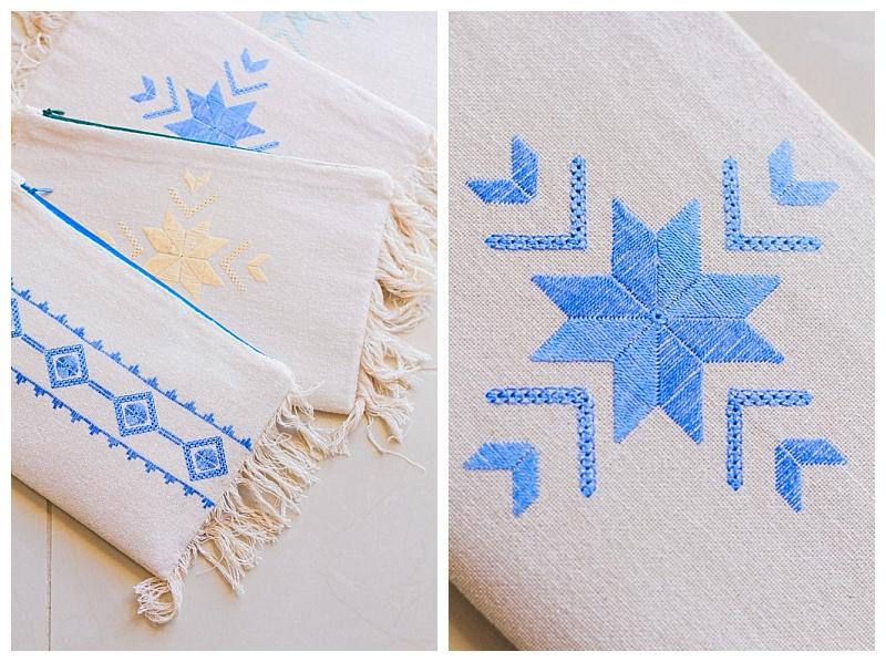 karsaniko lefkada embroidery fringe clutch bag