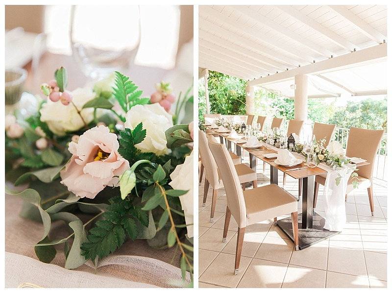 intimate elopement dinner table sivota greece