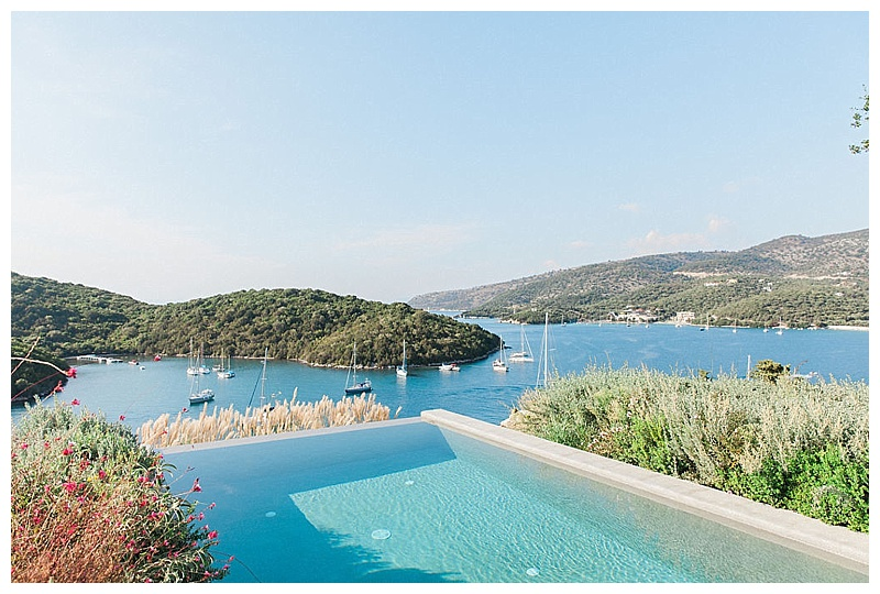 view over infinity pool and sea at sivota thesprotias