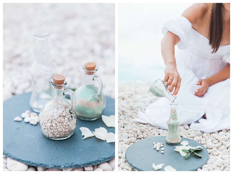 sand pouring beach wedding ceremony sand bottles