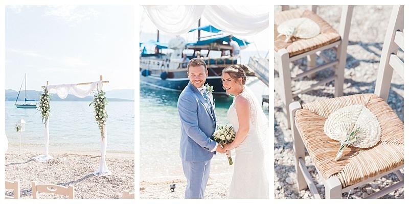 micro beach wedding in greece by planner Lefkas Weddings