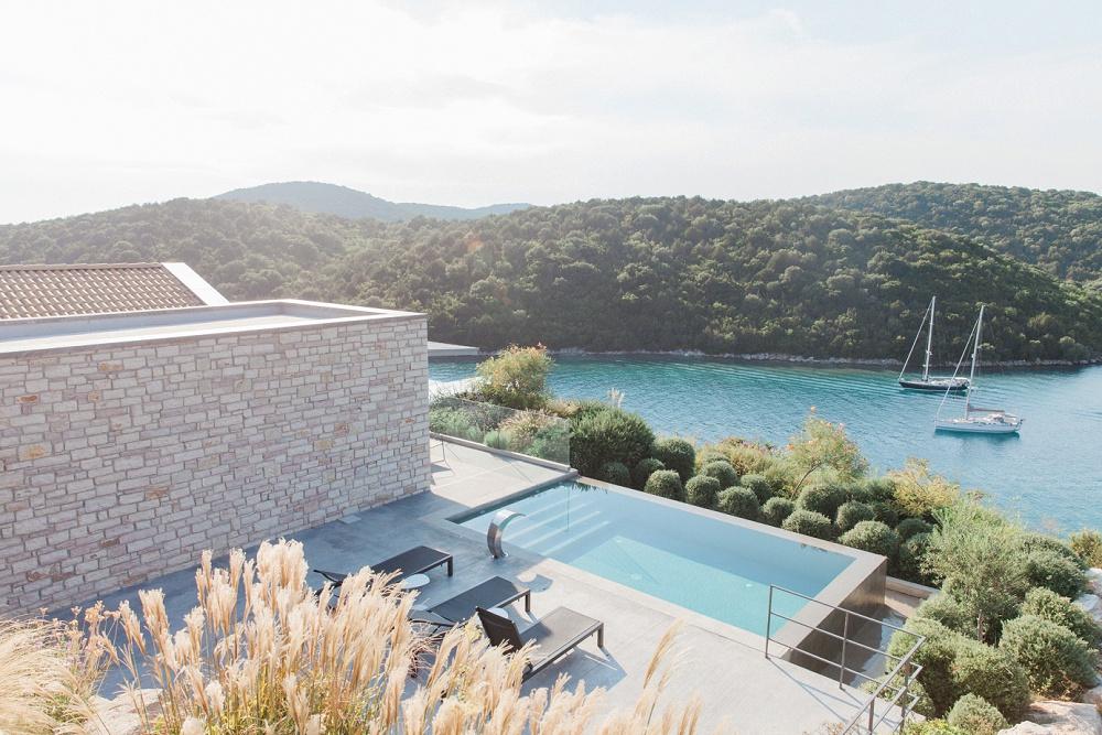 View from Sivota wedding at Agios Nikolaos Hotel by Lefkas Weddings