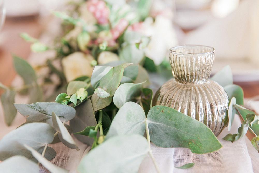 Table Flowers from Sivota Wedding at Agios Nikolaos Hotel
